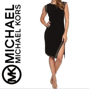 MICHAEL Michael Kors Studded Sheath Dress  Sz XS